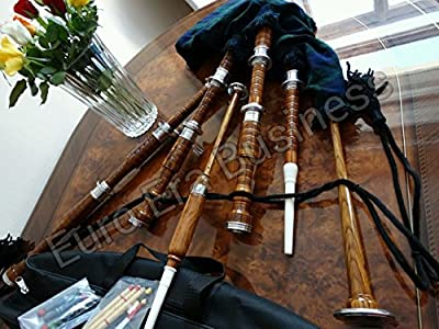 Scottish Rosewood Bagpipe Full Size with Free Accessories