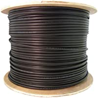 CableWholesales 6 Fiber Indoor/Outdoor Fiber Optic Cable, Multimode 62.5/125, Plenum Rated, Black, Spool, 1000ft