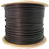 CableWholesale's 6 Fiber Indoor/Outdoor Fiber Optic Cable, Multimode 62.5/125, Plenum Rated, Black, Spool, 1000ft