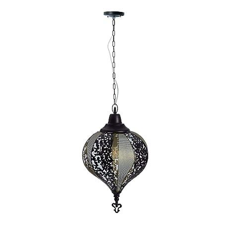 Lámpara de Techo Oriental Dorada de Metal para la Entrada ...