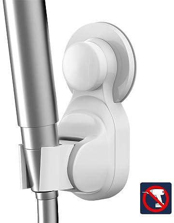 Lystaii 1 PC Soporte para Cabezal de Ducha universal Cromado 18-25 mm Soporte Cabezal ajustable para abrazadera de barra deslizante