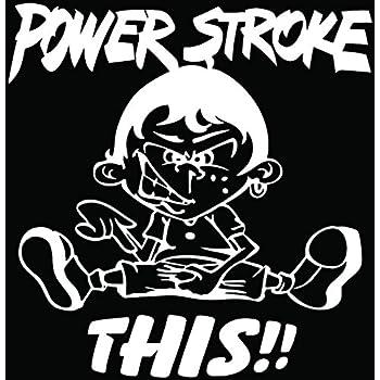"""Amazon.com: POWER STROKE 9""""x11.5"""" Rear Window Decal Kit ..."""