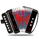 Children Musical Toy Instrument - 7 Keys 2 Bass Kid's Toy Accordion Rhythm Band Toy for Beginner Children Birthday's Gift