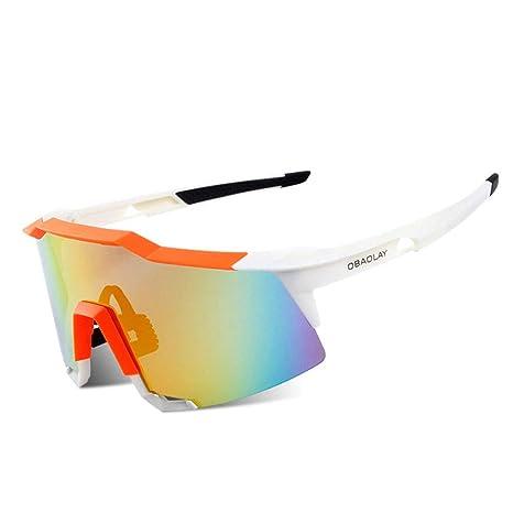 Longjiahaiwei Gafas de Sol de Ciclismo Profesional Gafas de ...