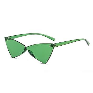 Yuanz Sin Montura Gafas de Sol Mujer Triángulo Ojo de Gato ...
