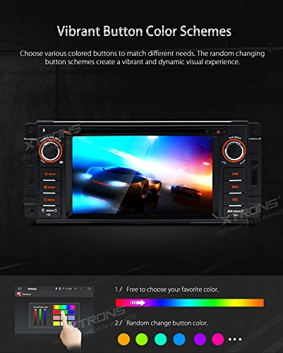 XTRONS Android 6.0 Octa-Core 64Bit 7 Inch Capacitive Touch Screen Car Stereo Radio DVD Player GPS CANbus Screen Mirroring Function OBD2 Tire Pressure Monitoring for Jeep Dodge Chrysler by XTRONS (Image #6)