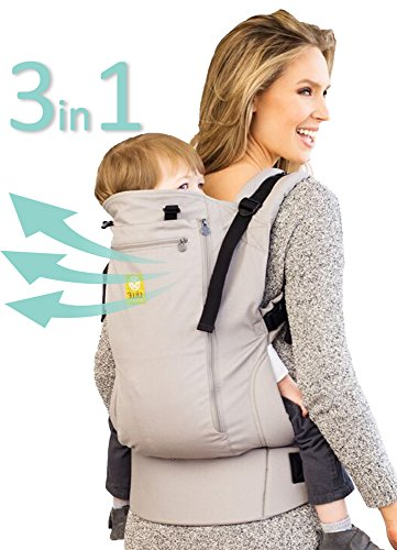 3 in 1 CarryOn All Seasons Toddler Carrier by LILLEbaby – Stone by Lillebaby