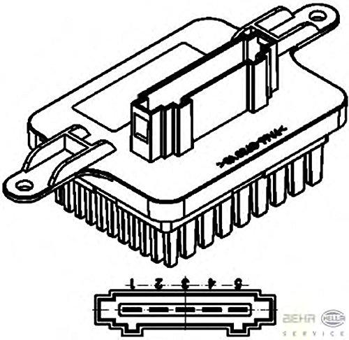 Peugeot 3008 5hl351321571 Heater Blower Resistor By Hella Amazon Co