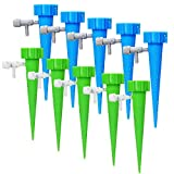 Jinsn Plant Waterer Self Watering Spikes, Automatic Vacation Plant Watering Devices,Plant Waterer Nannies Bottle Stake Set, Slow Release Self Irrigation Watering System Indoor Outdoor (10 Pack)