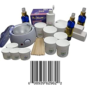 Sugaring Start up Big Kit , 1 Sugar Wax Warmer + 6 Jars of 22 Oz Each Standard Sugaring Hair Removal 100% Natural Paste (Standard Sugaring to Use with Hands or Spatula or Strips) + 3 Jars of 12 Oz Each of Soft Sugaring (To Use with Strips) + 1 Jar 12 Oz of Solid Sugaring + 12 Wood Spatulas + 8 Oz Azulene Oil to Decrease Hair Thickness and Irritation + 12 Oz Sterilized Sugaring Powder + 200 Sugar Wax Strips + 8 Oz After Sugaring Toner + 8 Oz Before Sugaring Cleanser