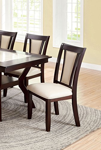 Furniture of America Dalcroze Modern Dining Chair, Ivory Fab