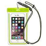 EOTW Waterproof Case Dry Bag with Military Class Lanyard; IPX8 Certified to 100 Feet for Kayaking Swimming Boating, Fit iPhone 6 6s Plus 5S SE, Galaxy S7 S6 S5, Blu LG Motorola NOKIA HTC - Green+Olive