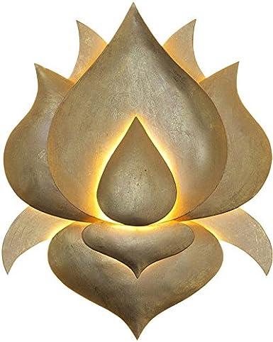 Lampada Da Parete A Forma Di Fiore Di Loto In Oro Chiaro Realizzata A Mano Qualita Manifattura Tedesca Lampada Da Parete Decorativa Dimmerabile Lampada Alogena 12 V G4 Amazon It Illuminazione