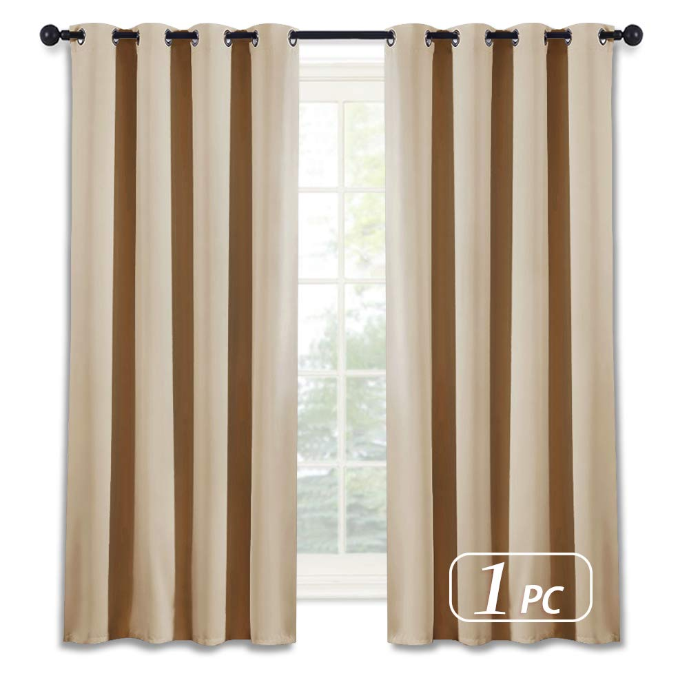NICETOWN Room Darkening Window Shade and Blind - (Biscotti Beige Color) Light Reducing & Privacy Protection Blackout Short Curtain/Drape/Drapery for Kid