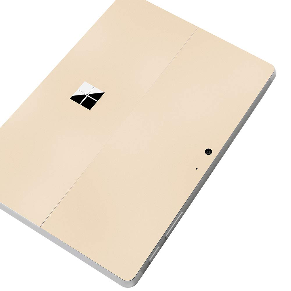 Ultra Thin Protective Decal Skin Cover for New Microsoft Surface Go 2018, Vinyl Decorative Tablet Back Cover Protector, Golden