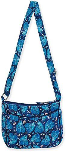 W Crossbody Burch Quilted E Cotton Laurel Indigo Bag Cats wCSIzqqHn