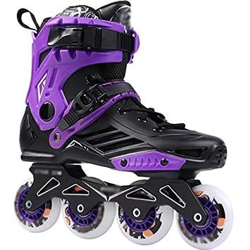 LCPG Universidad Principiantes artículos Deportivos Zapatos con Ruedas Patines en línea Patines en línea niños Adultos niñas (Color : Purple, ...