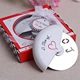 A Slice of Love Stainless Steel Pizza Cutter For Wedding Favor, Set of 72