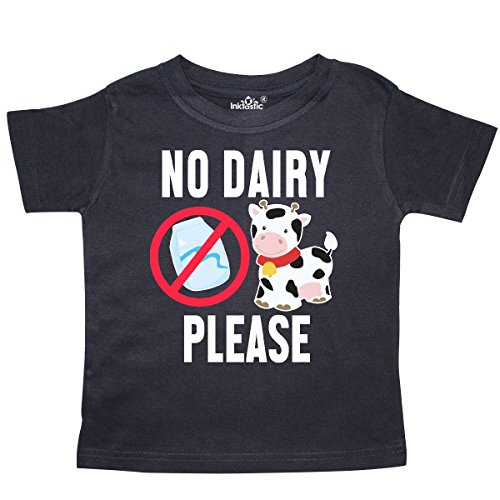 inktastic No Dairy Please with Cow and Milk Toddler T-Shirt 2T - Allergies Toddlers Food