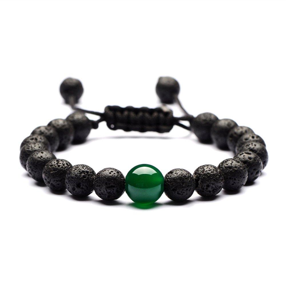 7 Chakra Lava Rock Bracelet Gemstone Mala Beads Bracelet Essential Oil Diffuser Reiki Healing Energy Bracelet YSY B-QML-062