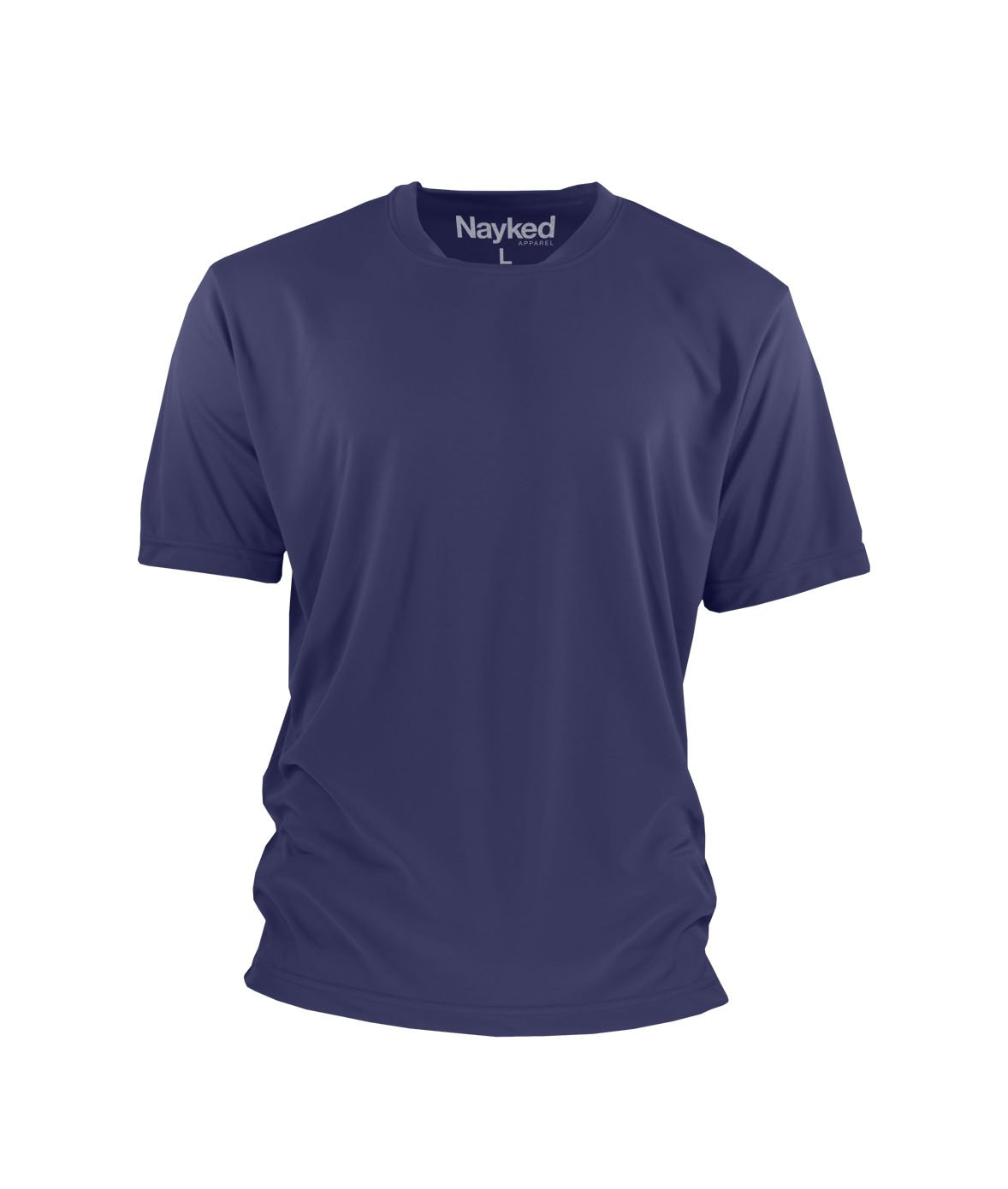 Nayked Apparel Men's Performance Cooling Crew T-Shirt, Navy, 2X-Large