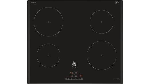 Balay 3EB861LR hobs Negro Integrado Con - Placa (Negro, Integrado, Con placa de inducción, Vidrio, 1400 W, 15 cm)