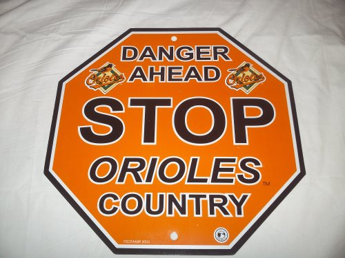 Fremont Die MLB Baltimore Orioles Sign12x12 Plastic Stop Style, Team Colors, One Size