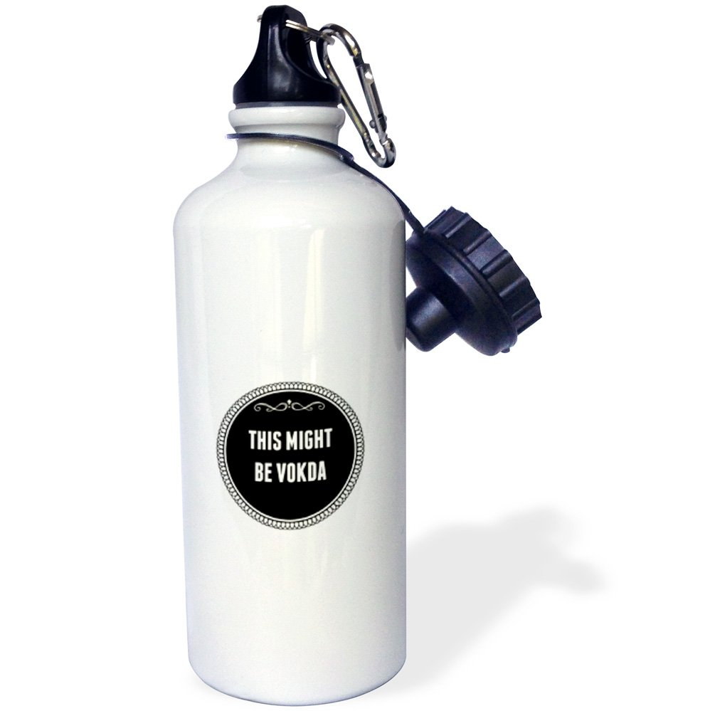 3dRose wb/_202816/_2 This might be vodka Flip Straw Water Bottle 21 oz Multicolor
