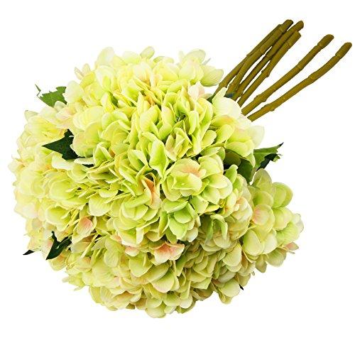 TYEERDEC Artificial Flowers 6 Bundles Artificial Silk Hydrangea Bouquet for Wedding Home Garden Hotel Party - Stem Hydrangea