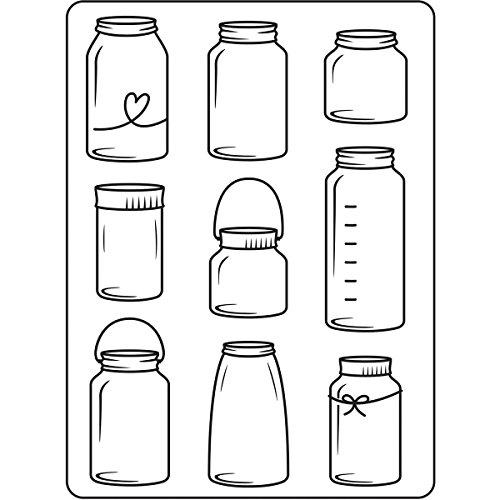 DARICE 30023106 Embossing Folders: Assorted Glass Jars, 4.25