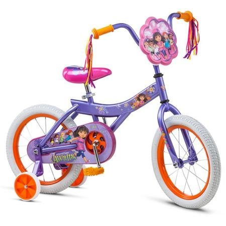 Dora Girl's Dora & Friends Bicycle 16 Purple [並行輸入品] B06XFTT69X