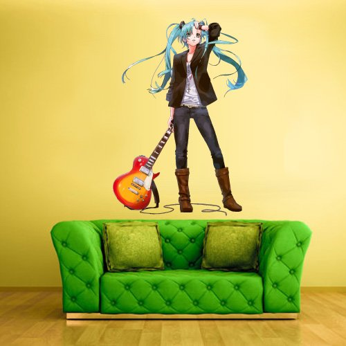 Full-Color-Wall-Decal-Mural-Sticker-Decor-Art-Poster-Anime-Girl-Star-Music-Guitar-Japan-Magic-Boxing-Box-Gloves-Piece-Comics-Col395