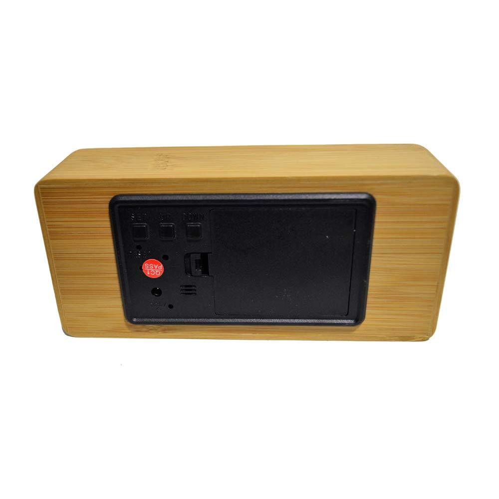 c0f93bc8017 Relógio Despertador Mesa Digital Tipo Madeira Com Sound Control 1299-A   Amazon.com.br  Casa