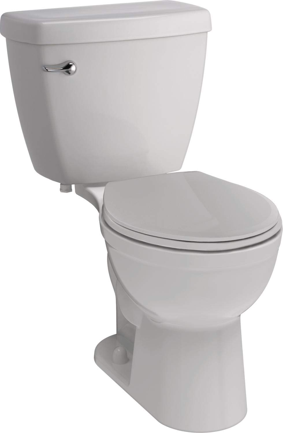 Delta Faucet Haywood White Round-Front Toilet with Slow-Close Nightlight Toilet Seat, Comfort Chair Height, 1.28 GPF, White by DELTA FAUCET