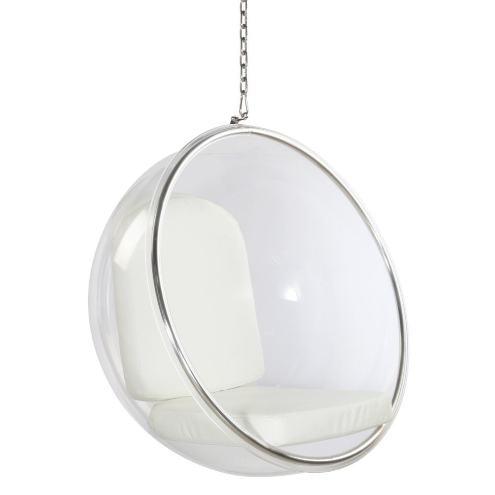 Amazon.com: Fine Mod Imports FMI1122 White Bubble Hanging Chair, White:  Kitchen U0026 Dining