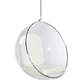 Fine Mod Imports FMI1122 White Bubble Hanging Chair, White