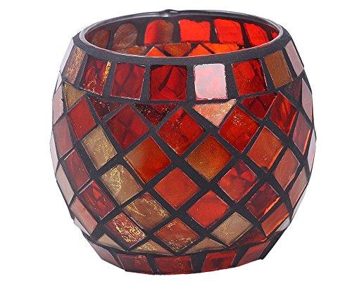 niceEshop Mosaic Glass Tea Light Votive Candle Holders Candl