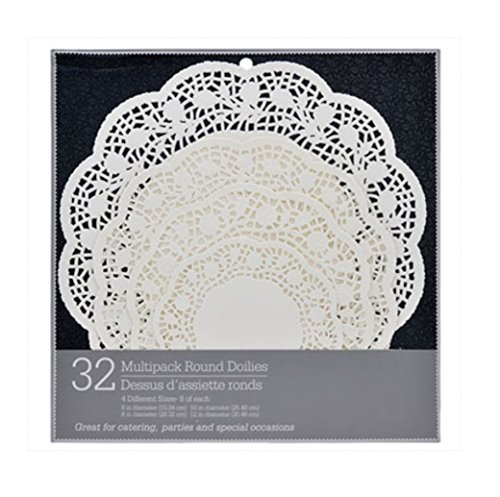 Paper Doilies Multipack Round Paper Lace in Assorted Sizes, Disposable, Catering, Serving, Parties,Special Occasions Ki-06