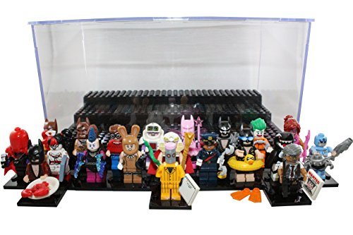 LEGO The Batman Movie Collectible Minifigure Full 20 Piece Set (71017) Bundle with ThemToys Minifigure Display Case