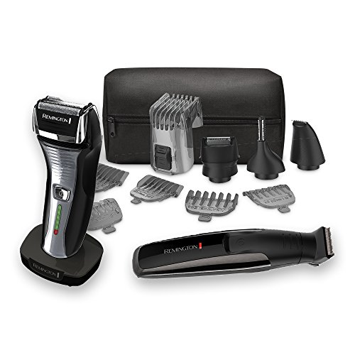 Remington Men's Grooming Bundle: The Crafter Beard Boss Style and Detail Kit along with a Men's Electric foil shaver