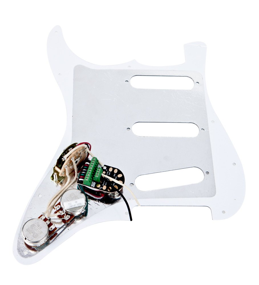 Seymour Duncan Fully Loaded Pickguard For Strat White No Pickups Wiring Diagram Additionally Guitar Pickup Diagrams Musical Instruments