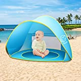 Baby Beach Tent, Portable Pop Up Baby Tent, UPF 50+ Summer Sun Shelters Shade, Sunscreen Beach Umbrella Baby Pool for Infant Baby