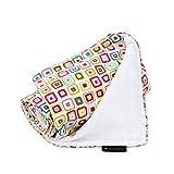 The Stroller Blanket, Soft Minky and 100% Cotton 41 x 30 , Gumdrop Pattern