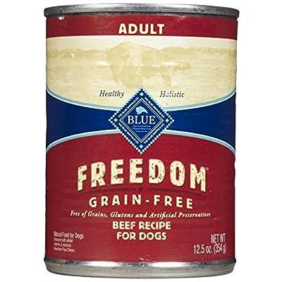 Blue Buffalo Blue Freedom Adult Dog Beef Dinner Food, 12 By 12 Oz.