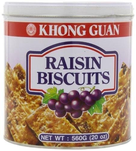 Raisin Cookies - Khong Guan Raisin BiscuitsTin, 20-Ounce