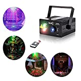 Chims Stage Laser DJ Lights 3 Lens Red Green 40 Patterns Light Projector Bright Blue LED Stage DJ Party Music Xmas Show Lamp Sound Active Remote Control