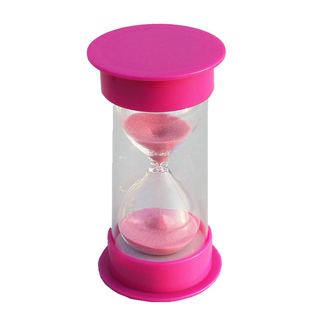MagiDeal 20 Minutes Hourglass Timer Pink Lid & Sand
