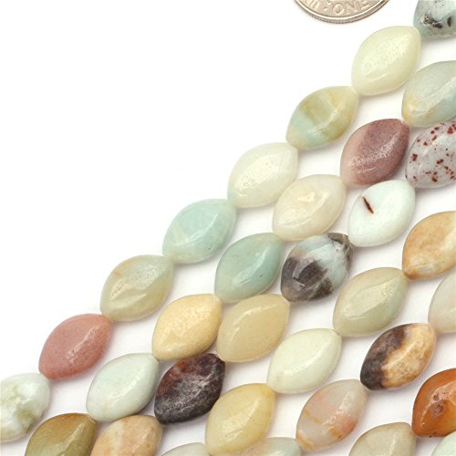 GEM-inside Amazon Colored Agate Beads Smooth Beads 8x12mm For Jewelry Making In 15 Inches