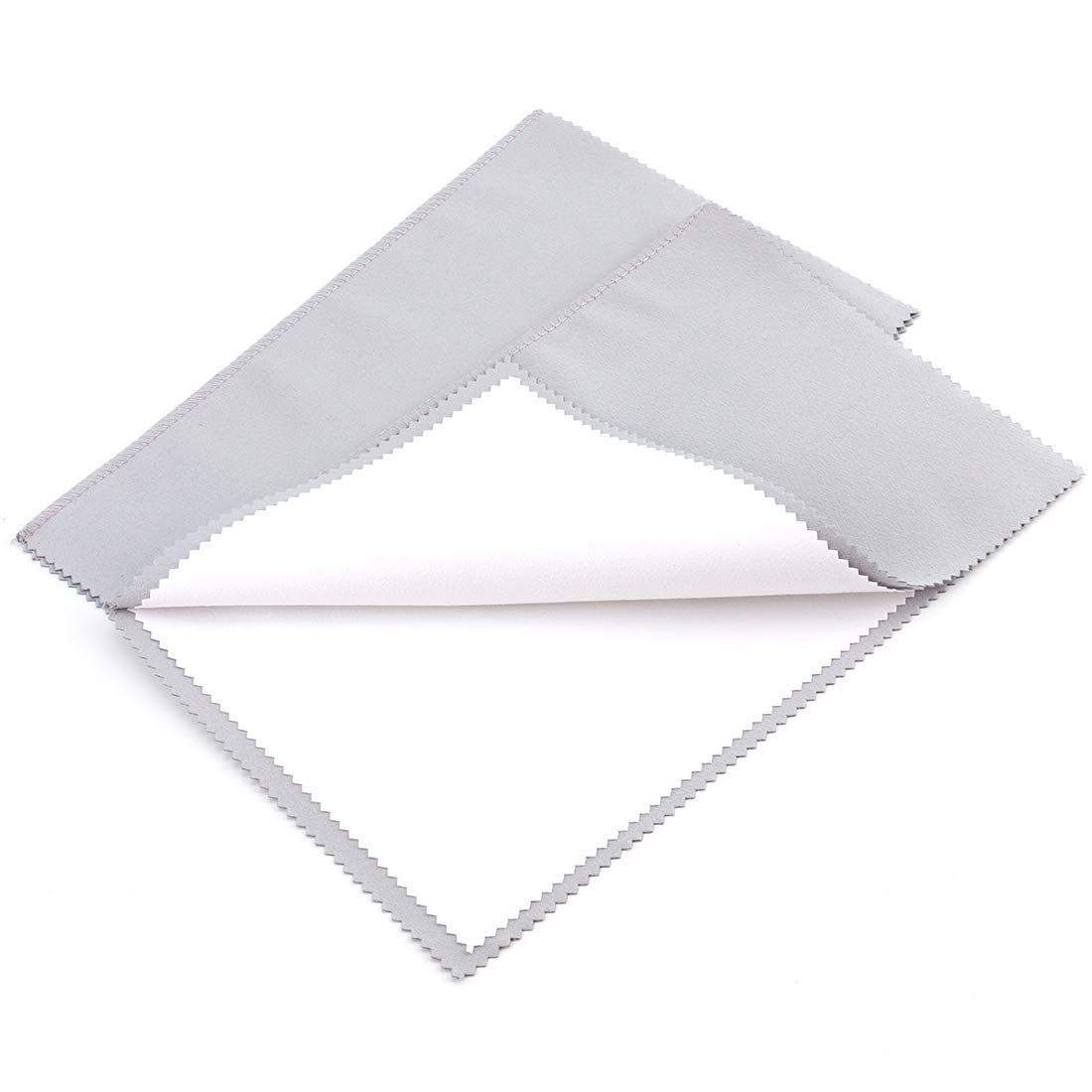 Foraineam 2 Pack Jewelry Polishing Cleaning Cloth for Cleaning Silver Gold and Platinum Jewelry Coins Gemstones Watches and Silverware