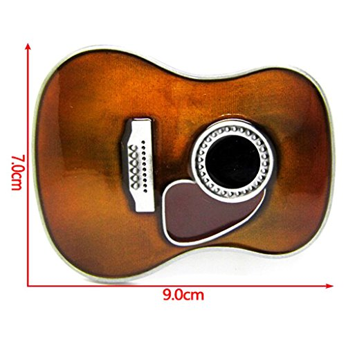 MagiDeal Western Country Music Style Guitar Belt Buckles Men Metal